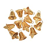 Asian Hobby Crafts Golden Metal Bells Used for Hobby Crafts and Other Craft Works : Pack of 25 : Size -2.5cm