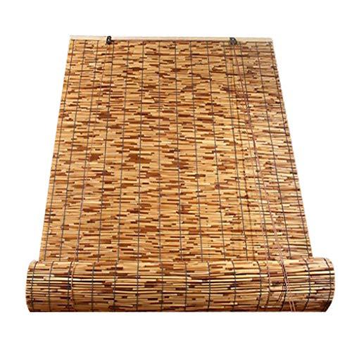 TCYLZ Bamboe Rolgordijnen, Natuurlijke Rieten Raamschaduw, Anti-UV Moldproof Decoratieve Retro Blinds, Lifting Straw Shutters Decoratieve Gordijnen, voor Binnen/buiten/tuin/Venster