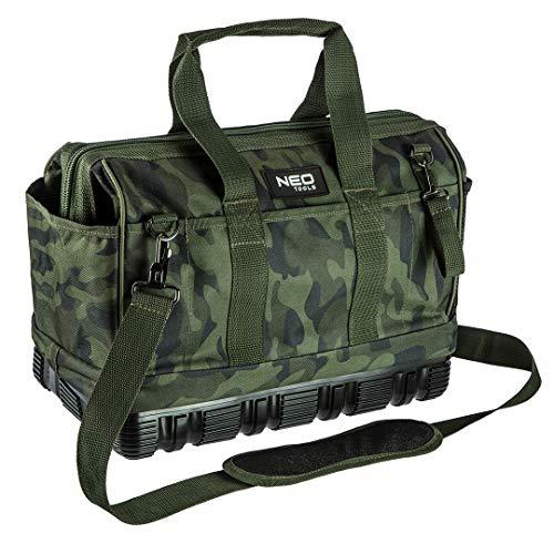 Neo Tools Werkzeugkoffer CAMO (leer) für Profi-Handwerker, Camouflage-Optik, 40 x 22 x 33 cm, 100%...