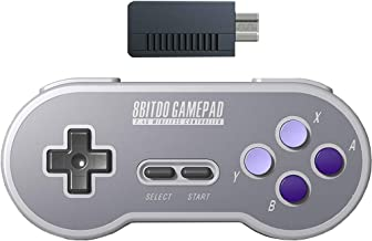 8Bitdo SN30 2.4G Wireless Gamepad Controller with Retro Wireless Receiver Adapter for SNES and SFC Classic Edition