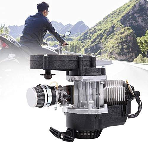 Ambienceo 49 CC Motor de 2 tiempos Motor de arranque por tracción Mini Pocket Pit Quad Dirt Bike ATV 4 ruedas Accesorio