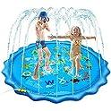 SSBRIGHT Large Inflatable Water Splash Pad Sprinkler for Kids