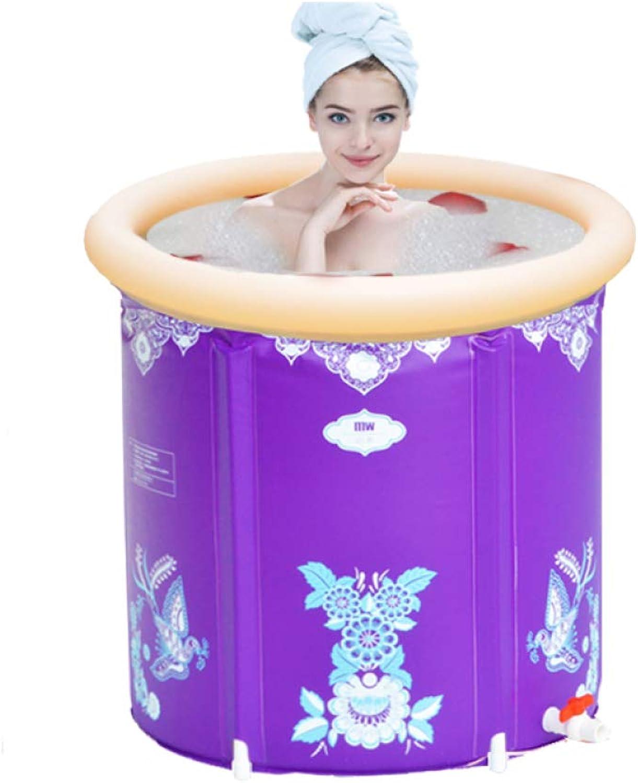 TZQ Praktische Tragbare Badewanne Für Kinder Aufblasbare Badewanne Für Erwachsene Zum Aufklappen Aufblasbare Badewanne,lila-85x75cm