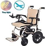BXZ Silla de ruedas eléctrica Silla de ruedas eléctrica liviana, abierta/plegable en 1 segundo La unidad de silla eléctrica más compacta más ligera con energía eléctrica o silla de ruedas manual de