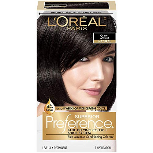 OKSLO L'OrГal Paris Superior Preference Fade-Defying + Shine Permanent Hair Color, 3 Soft (1 Kit) Hair Dye, SUPERIOR PREFERENCE PERMANENT HAIR DYE Kit: For, By LOreal Paris
