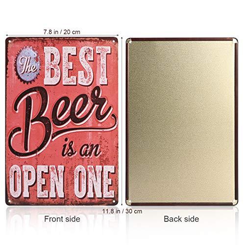 "ROSENICE Metal Sign Tin Poster Beer Theme Vintage Sign Tavern Bar Pub Shop Retro 12"" X 8"""
