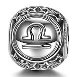 NINAQUEEN Charm para Pandora Charms Libra 12 Constelación Signo Zodiaco Regalo Mujer Originales Plata 925 Cumpleaños para Esposa Novia Mamá