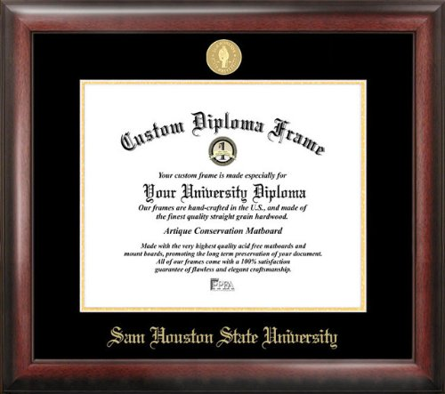 Campus Images Sam Houston State 14w x 11h Gold Embossed Diploma Frame
