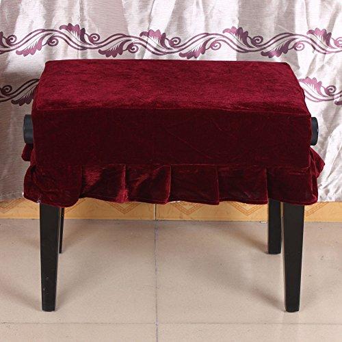 ammoon Pleuche di Copertura Sedia Sgabello Pianoforte Decorato con Macrame 55 * 35cm per Pianoforte Poltrona Singola universale bella