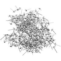 Der Ohrring Pin mit leeren Pad, ideal für DIY schöne und elegante Ohrringe mit Strass und Kristall mit heißem Flüssigkleber. Solide Metall Ohrring Pin Post Erkenntnisse, ist es leicht und einfach zu bedienen. Material: Metall Länge 11mm-15mm. Sehr ei...