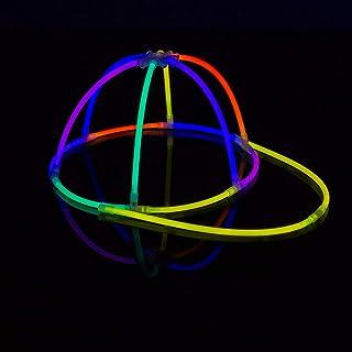 KNIXS 10 Stück Set - Knicklicht Basecap / Base Cap im 5-Farb-Mix Leuchtend, Testnote 1,4 \