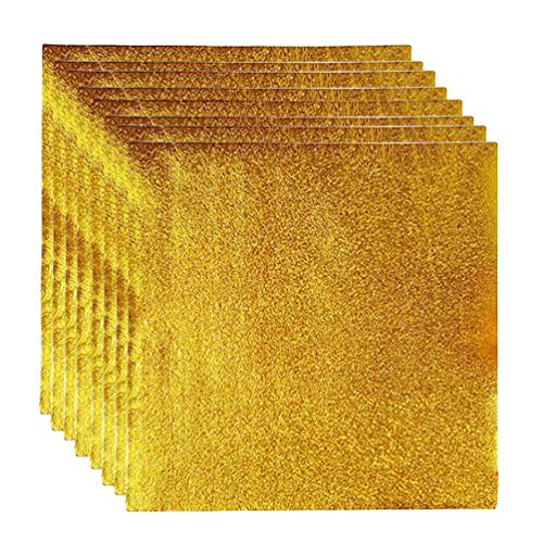 UPKOCH 400 Stücke Aluminiumfolie Papier Golden Bonbonpapier DIY Verpackung Foil Papier für Süßigkeiten Schokolade Candy Geschenk Verpackung Dekoration