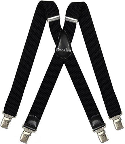 Decalen Bretelles pour Hommes et Femmes Une Taille Convient Tous Les Clips Forts Style X Diverses Couleurs (Noir)