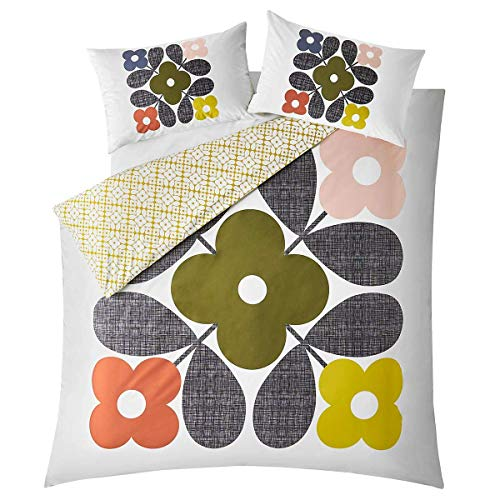 Orla Kiely * Duvet Covers * Placement Flower Tile Duvet Cover, Double 200x200cm
