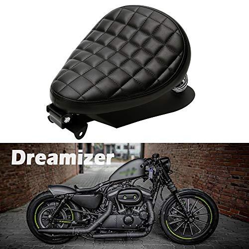 Dreamizer Motorrad Bobber Sitz, Motorrad Solo Sitz Mit Federhalterung Grundplatte Für Sportster Achtundvierzig 48 XL883 1200 Chopper Custom