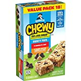Includes 18 individually wrapped Chewy 25% Less Sugar Granola Bars: (9) Chocolate Chip and (9) Peanut Butter Chocolate Chip New Look. Same great taste. (Packaging may vary) Made with real chocolate and 9-10 grams of 100% whole grains. Made with 25% l...