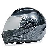 Casco De Moto Abatible Resistencia Al Impacto Cascos Integral Fibra De Carbono Lente Doble Adulto Transpirable B M