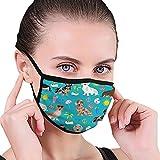 Masken Mode Dackel Hund Mundschutz Winddicht Elastic Earloop Schule Unisex Warme Atmungsaktive Gesichtsmaske Waschbare Wiederverwendbare Arbeit Outdoor-Geschenk