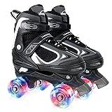 Nattork Adjustable Roller Skates for Kids,Beginner Skates for Girls and...