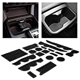 CupHolderHero for Toyota Tacoma Accessories 2016-2020 Premium Custom Interior Non-Slip Anti Dust Cup Holder Inserts, Center Console Liner Mats, Door Pocket Liners 19-pc Set (Double Cab) (Gray Trim)