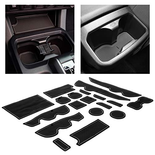 CupHolderHero for Toyota Tacoma Accessories 2016-2022 Premium Custom Interior Non-Slip Anti Dust Cup Holder Inserts, Center Console Liner Mats, Door Pocket Liners 19-pc Set (Double Cab) (Gray Trim)
