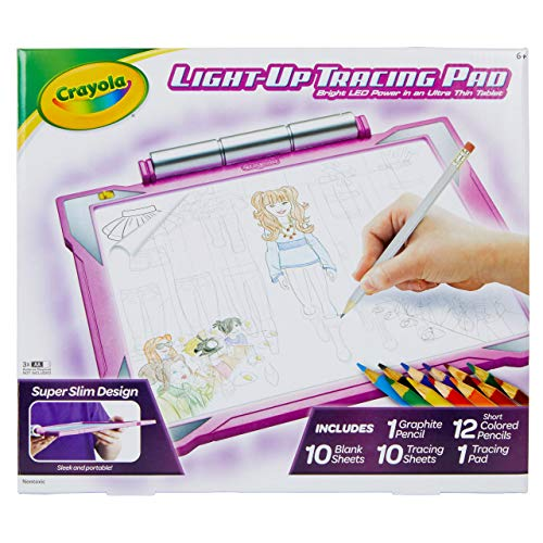 Crayola Light Up Tracing Pad Pink, Easter Gifts for Girls & Boys, Age 6, 7, 8, 9