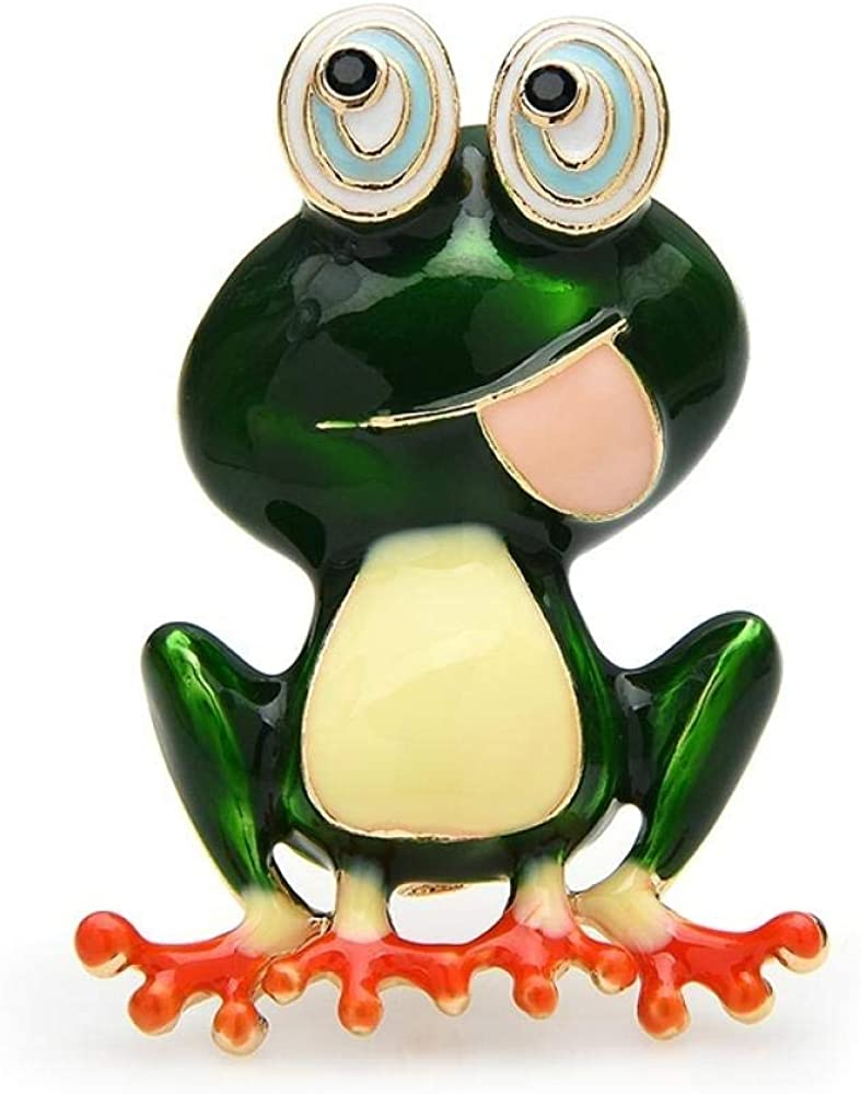 GLKHM Fashion Brooches Jacksonville Mall Pins Enamel Tongue Ranking TOP2 Frog Unis Out