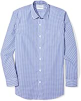 Amazon Essentials (アマゾン エッセンシャルズ) メンズ シャツ スリムフィット しわになりにくい 長袖 ドレスシャツ シャツ