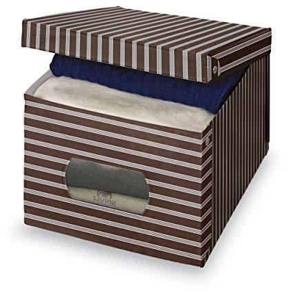 Mister Pack Scatola PORTABIANCHERIA in PVC, Misure 38,5 x 50 x 24 cm, Multicolore