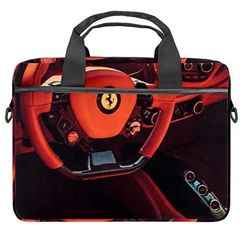 imobaby Laptop Bag Red Ferrari Messenger Shoulder Bag Briefcase Notebook Sleeve Carrying Handbag 15-15.4 inches