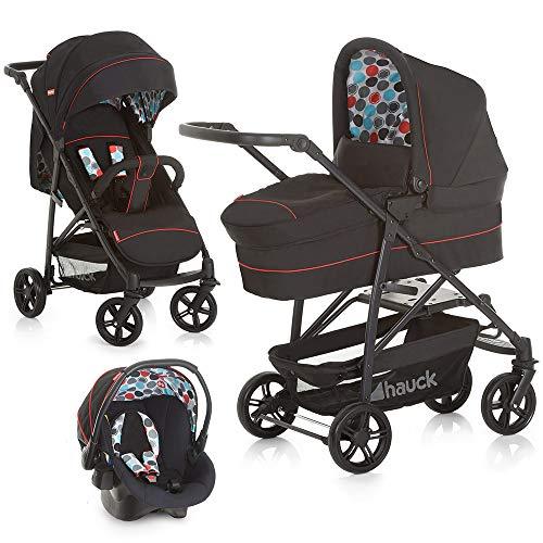 Fisher-Price Kinderwagen-Set 3in1 Toronto 4 - Kombikinderwagen Trioset mit Babyschale, Babywanne und Sportwagen - Schwarz