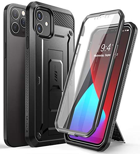 SupCase Capa Unicorn Beetle Pro Series para iPhone 12/iPhone 12 Pro (versão 2020) 6,1 polegadas, protetor de tela integrado, capa coldre resistente de corpo inteiro (preto)