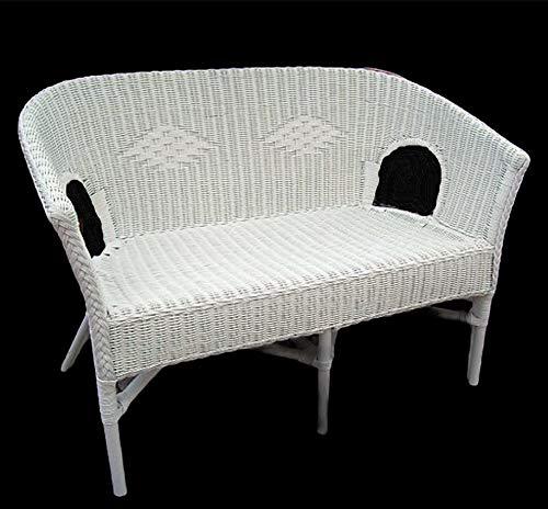 Rattan Bank (Sessel) neu Club Lounge Orginal Rattan Farbe weiß geflochten 1