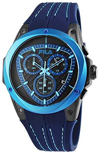 Fila Unisex Erwachsene Analog Quarz Uhr mit Silikon Armband FILA38-821-003