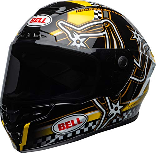 BELL STAR DLX MIPS ISLE OF MAN HELMET BLACK/YELLOW M