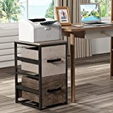 GREATMEET Industrial File Cabinet with 2 Drawers,Washed Oak Vertical File Cabinet,Wood Office Filing Cabinet for A4, Letter Sized Documents, Hanging File Folders,Brown