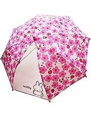miffy(ミッフィー) ミッフィーお花畑☆子供傘☆40cm☆ピンク☆透明窓付き