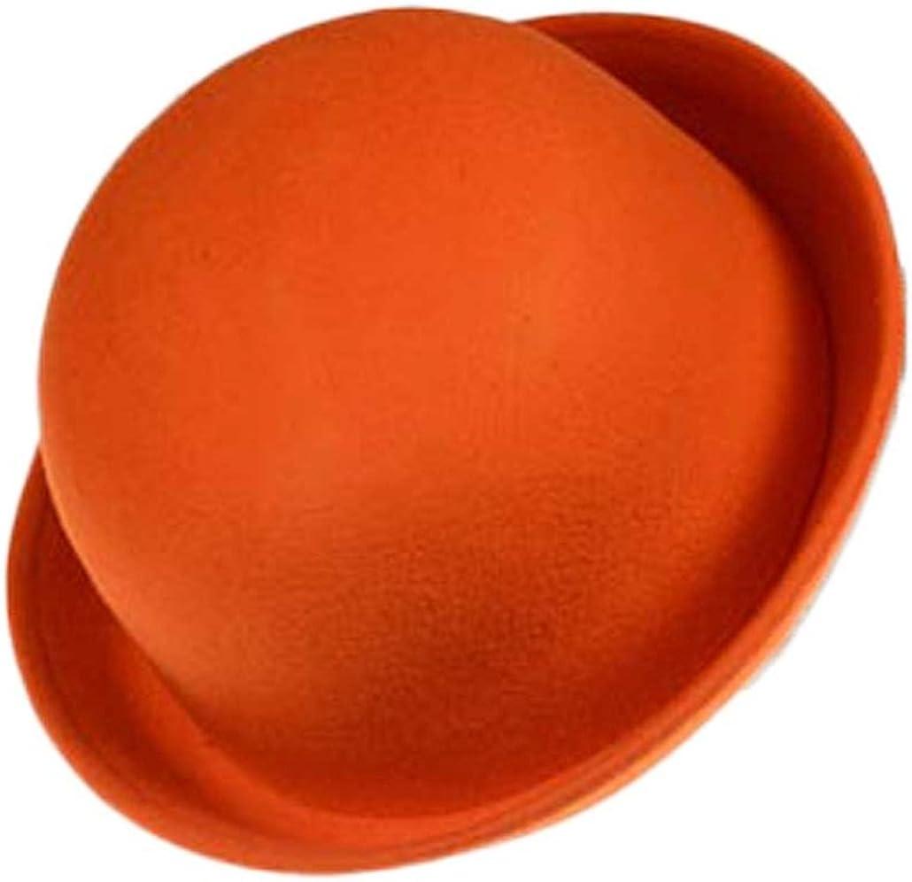 CXB1983(TM) 2015 Solid Color Women Lady Beach Wool Felt Bowler Fedora Hat Caps Hats