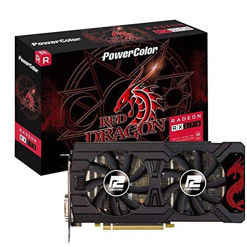 PLACA DE VIDEO POWER COLOR RADEON RX 570 DRAGON 8GB DDR5 256 BITS - AXRX570 8GBD5-3DHD/OC Powe Color, AXRX570 8GBD5-3DHD/OC, Placas de Vídeo