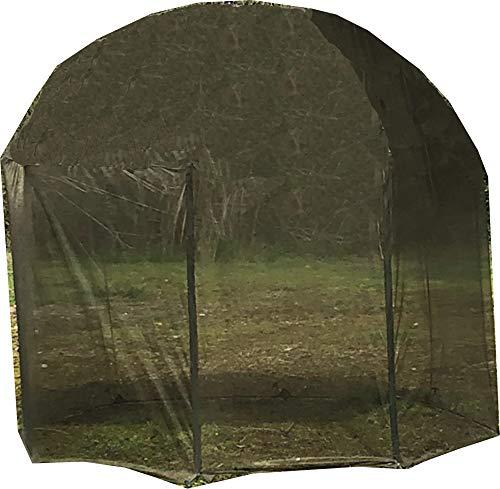 FOX Mozzy Mesh 60' - Schirmüberwurf für Brolly, Überwurf für Angelschirm, Moskitonetz für Karpfenschirm, Zeltüberwurf für Schirm