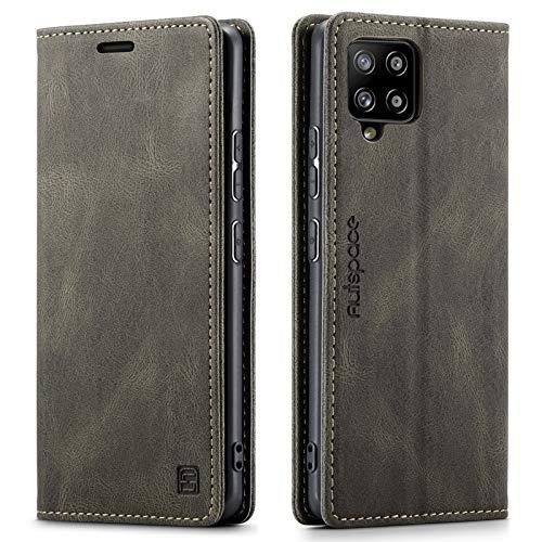 GoodcAcy - Custodia a libro per Samsung Galaxy A42 (5G) in pelle, stile vintage Premium [protezione RFID], chiusura magnetica, in pelle, per Samsung Galaxy A42 (5G)