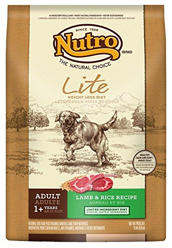 Nutro Lite, Weight Loss Dry Dog Food, Lamb And Rice, 15 Lbs.
