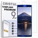 REY Protector de Pantalla para DOOGEE BL12000, Cristal Vidrio Templado Premium