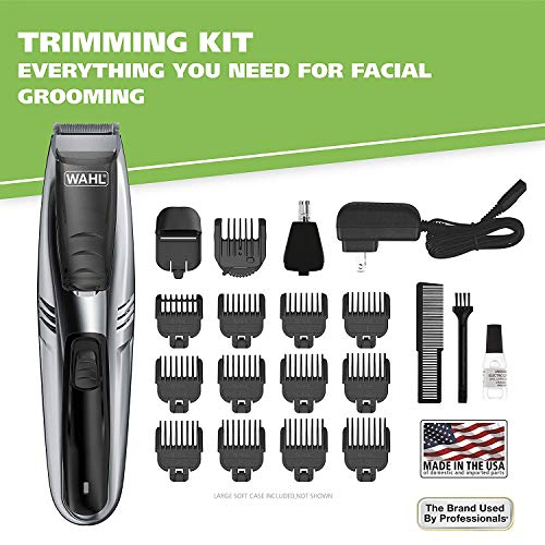 Wahl Model 9870-100 Vacuum Trimmer Kit with Powerful Suction for Beards, Facial...