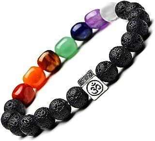Homelavie 7 Chakra Bracelets for Women, Crystals and Healing Stones Beaded Bracelets, OM Meditation Yoga Bangle Jewelry fo...