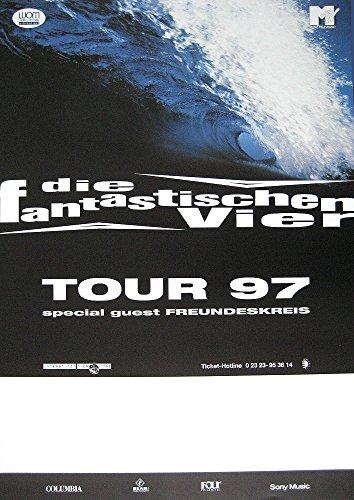 Die Fantastischen Vier TOURPOSTER KONZERTPLAKAT LIVE UND DIREKT Tour 1997