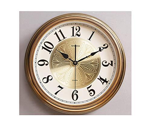 A-GHM Clock Wall clock, gold Nordic luxury metal wall clock wall hanging European creative home wall charts American minimalist clock wall clock living room 3D