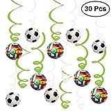 30 pièces 2018 World Cup Hanging Swirl Decorations Set de jeux de football Set pour le jeu de football Sport Birthday Party à thème