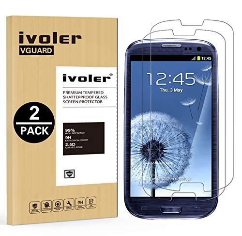 ivoler Kompatibel für Panzerglas Schutzfolie Samsung Galaxy S3 / S3 Neo [9H Härte] [Anti- Kratzer] [Bläschenfrei] [2.5D Runde Kante], [2 Stücke]