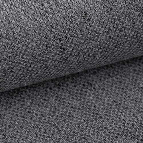 Teker Atena Polsterstoff Möbelstoff Meterware - z.B. Stoff für Stühle oder Eckbank Bezug - Dunkelgrau